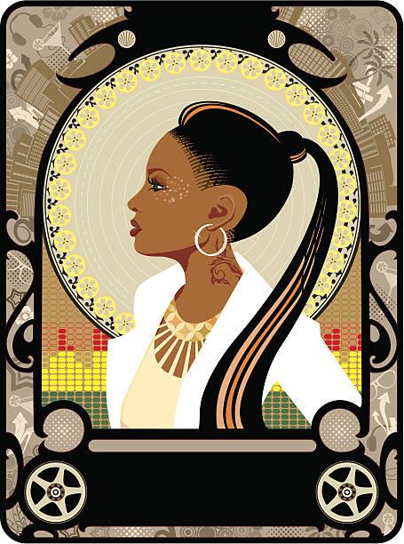 bildbanksillustrationer, clip art samt tecknat material och ikoner med r'n'b art deco - hip hop poster
