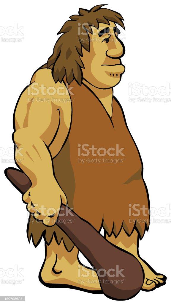 neanderthal caveman vector art illustration