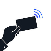 Near-field communication NFC concept icon. Technology for contactless payment
