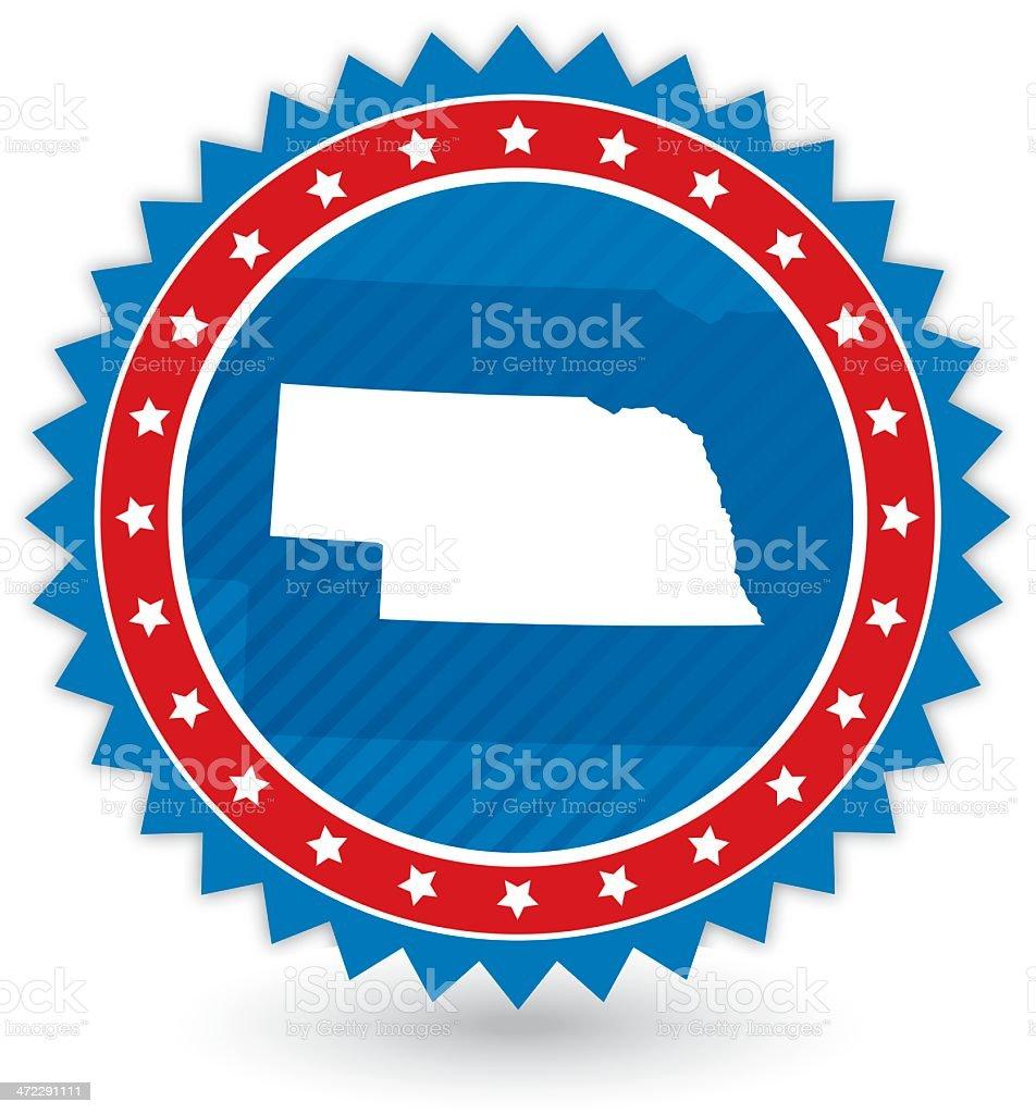 Nebraska Badge royalty-free nebraska badge stock vector art & more images of award
