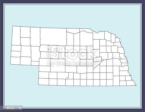 istock Nebraska county map downloadable 1185067746
