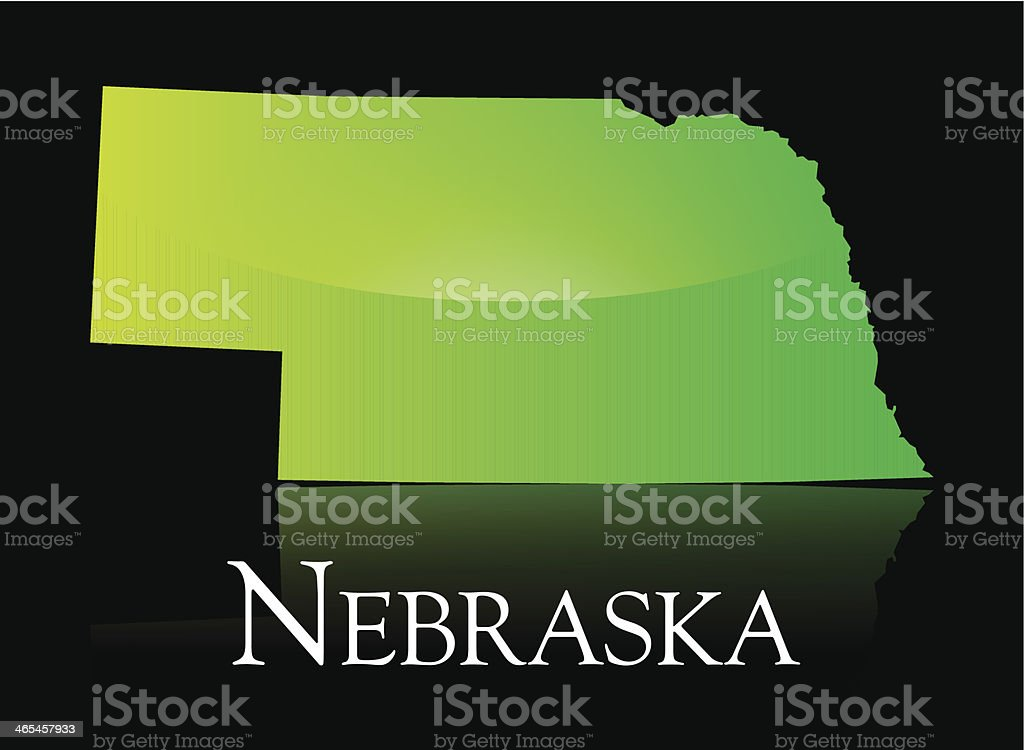Nebraska green shiny map royalty-free nebraska green shiny map stock vector art & more images of black background