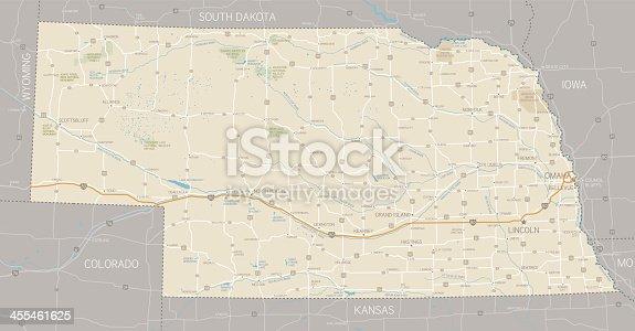 istock Nebraska Map 455461625
