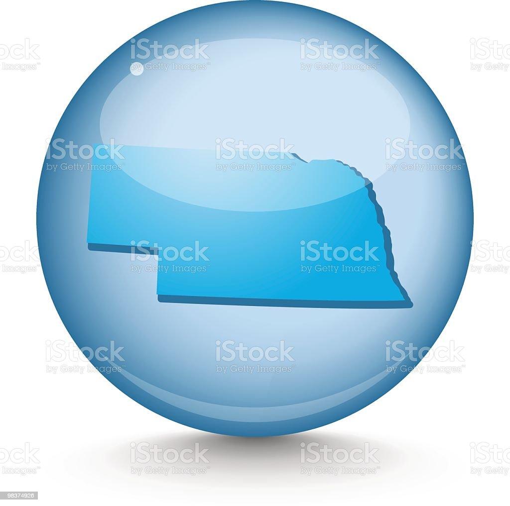 Nebraska-Sphere State serie nebraskasphere state serie - immagini vettoriali stock e altre immagini di blu royalty-free