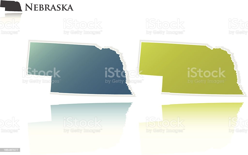 Nebraska state graphic royalty-free stock vector art