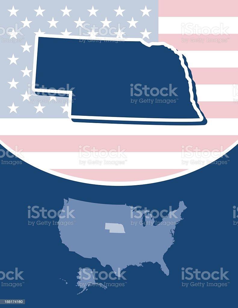 Nebraska state series royalty-free stock vector art