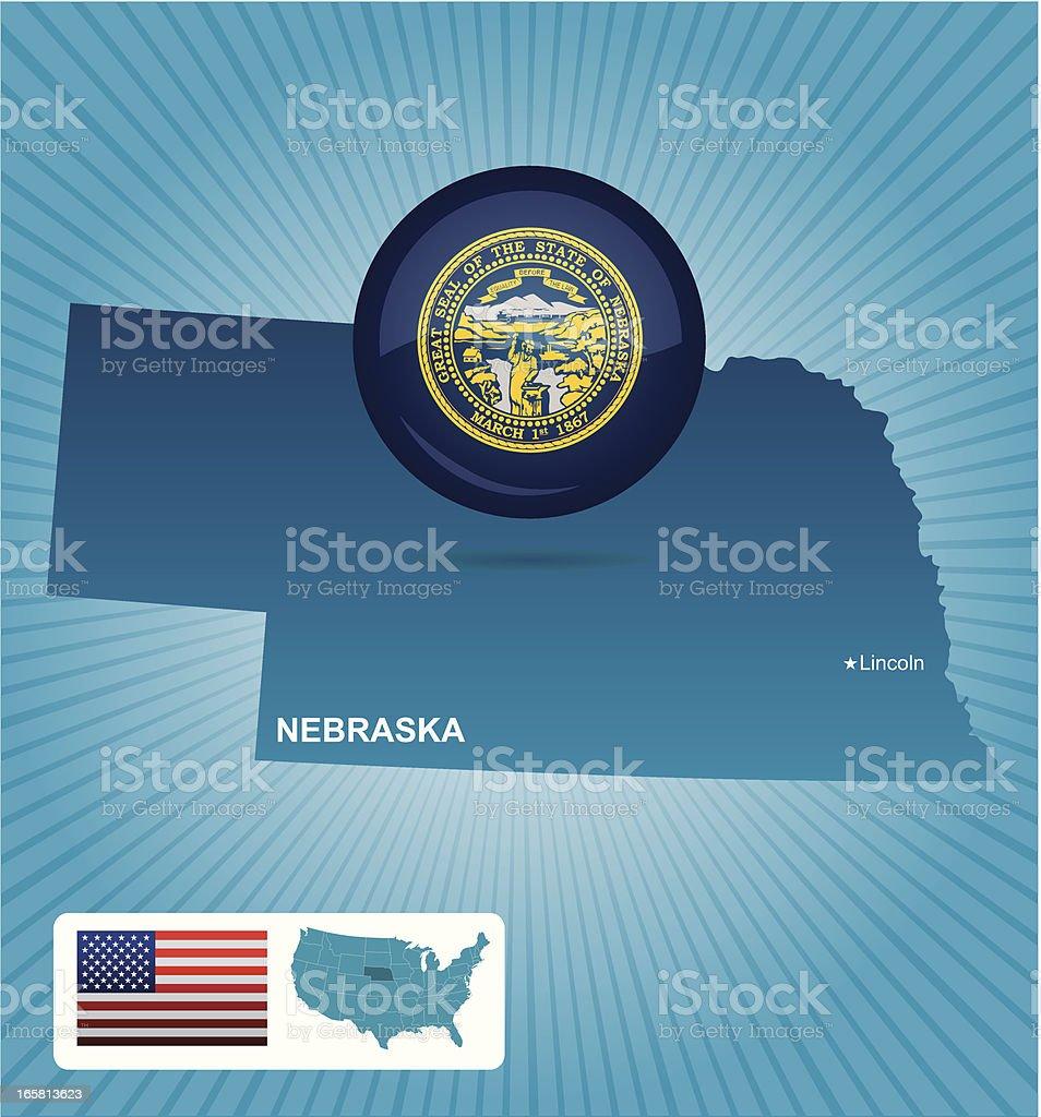 Nebraska state royalty-free stock vector art