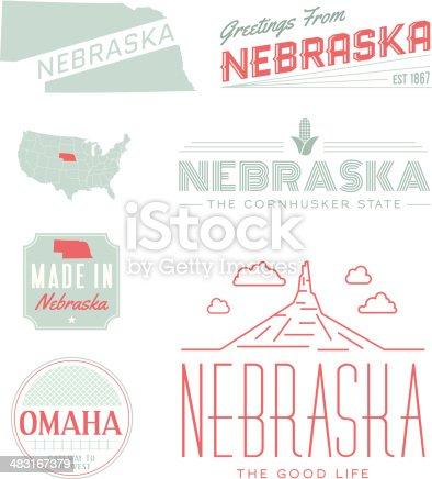 istock Nebraska Typography 483167379