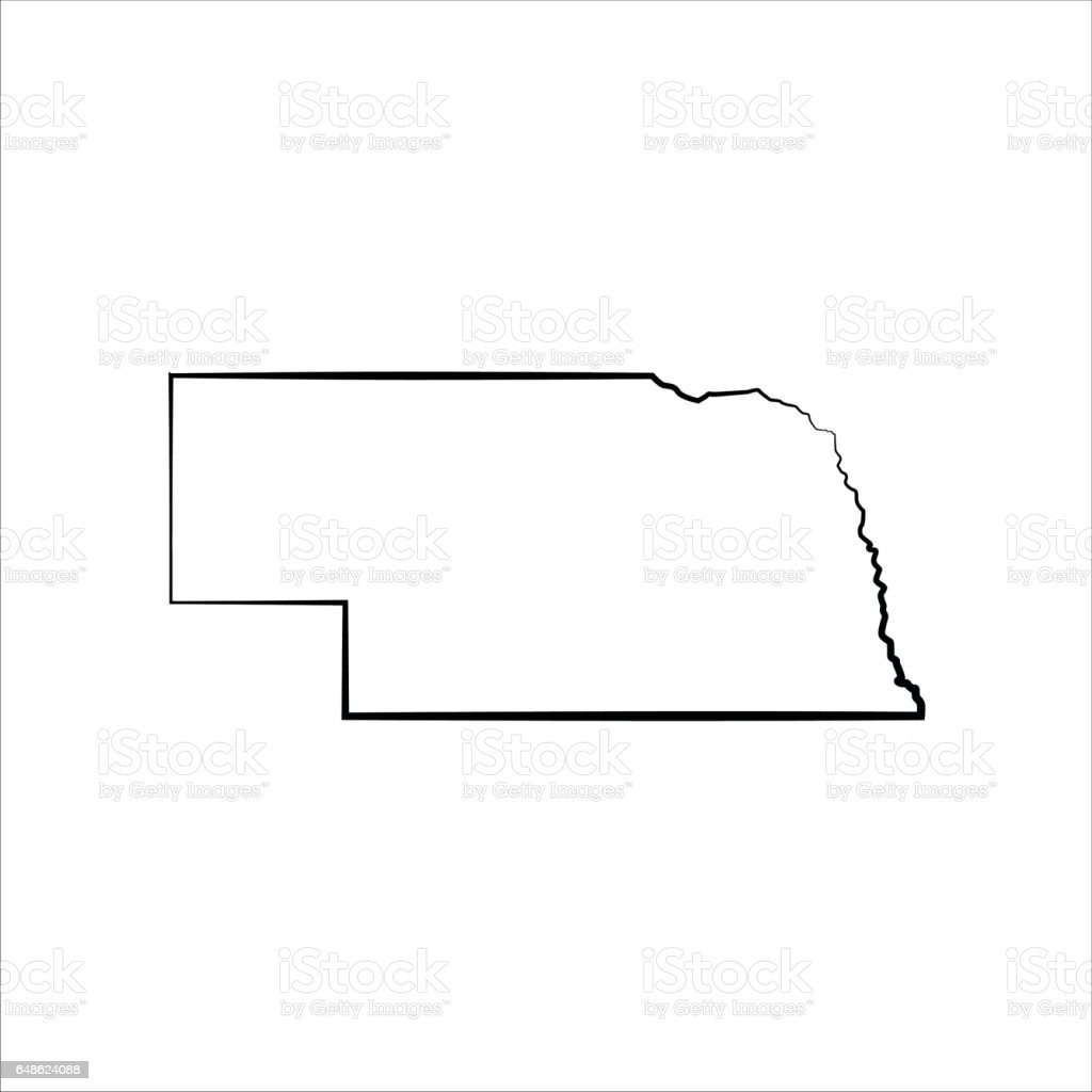 Nebraska vector art illustration