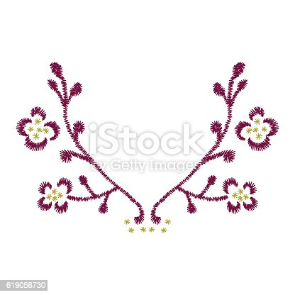 Neck Line Embroidery Design With Floral Pattern For Fashion