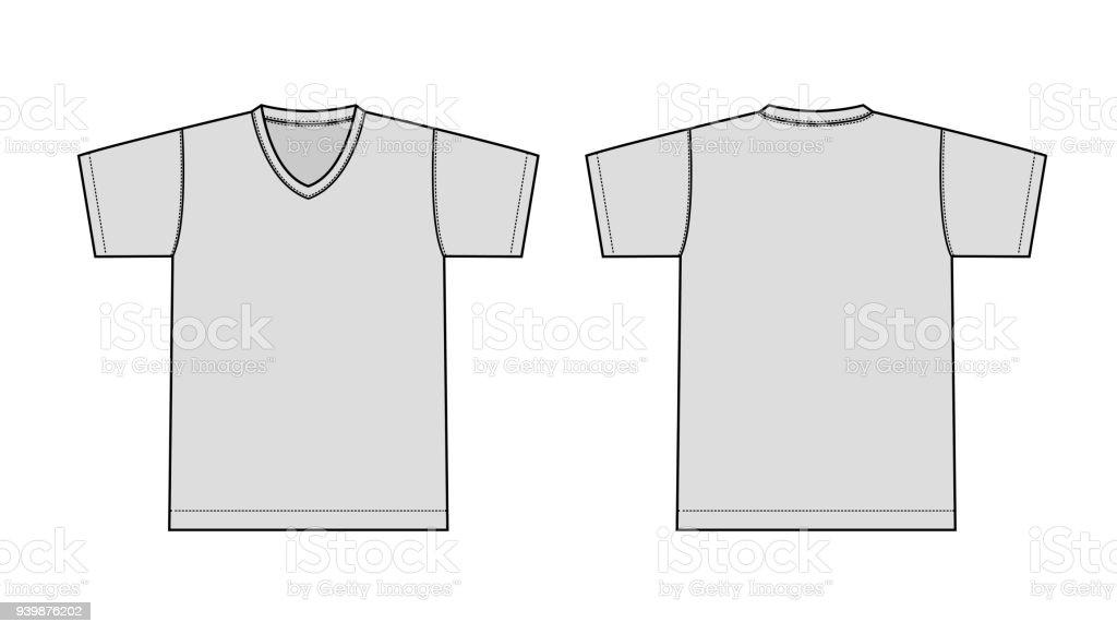 V 首 T シャツ イラスト Tシャツのベクターアート素材や画像を多数ご