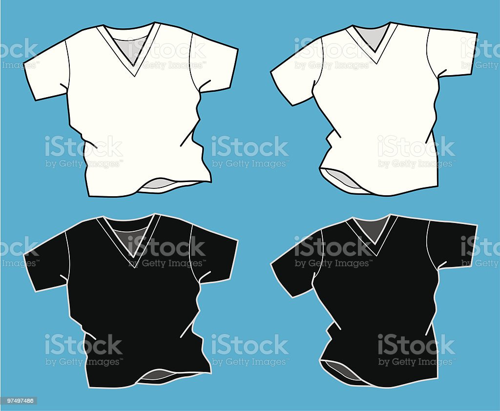 V Neck T-Shirts royalty-free v neck tshirts stock vector art & more images of adult