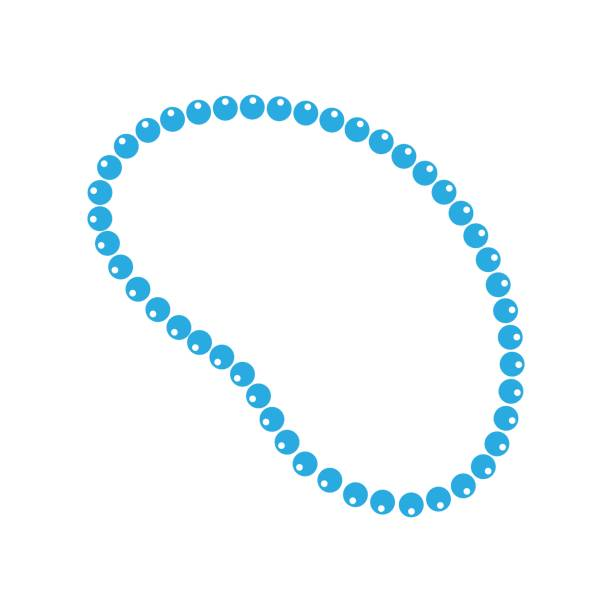 necklace beads vector icon in flat style. mardi gras beads illustration on white isolated background. jewelry business concept. - bead stock illustrations, clip art, cartoons, & icons
