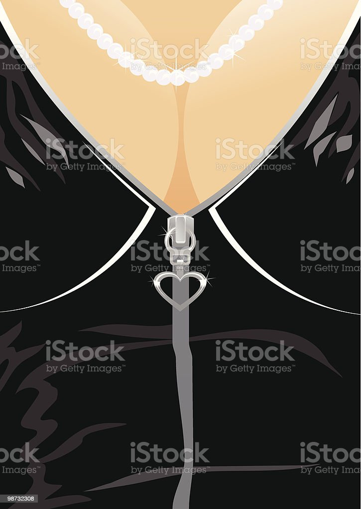 necklace on feminine bosom royalty-free necklace on feminine bosom stock vector art & more images of adult
