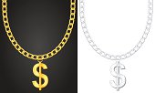 necklace with dollar sign