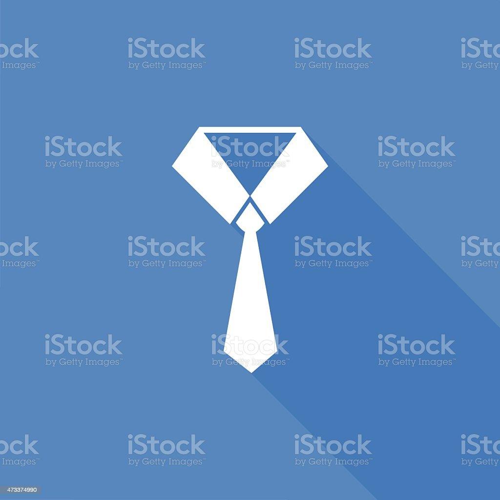 necktie icon vector art illustration