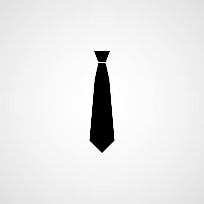 Necktie simple icon. Vector