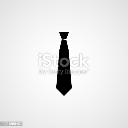 Necktie simple icon. Vector