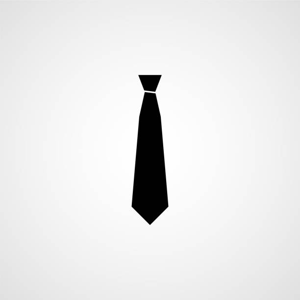 necktie simple icon - tie stock illustrations, clip art, cartoons, & icons