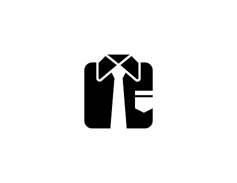 Necktie vector icon. Isolated Men's Business Casual Wear flat symbol