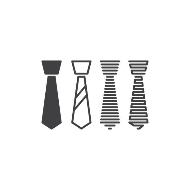 ilustrações de stock, clip art, desenhos animados e ícones de necktie. vector icon template - gravata