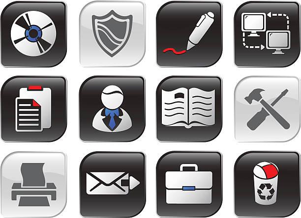 necro icon series | set one - byteandpixel stock illustrations