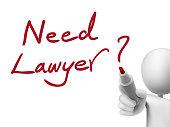 need lawyer words written by 3d man