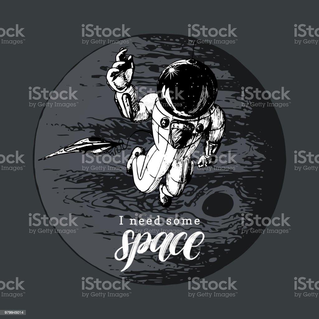 Ilustración De Que Frase Manuscrita Necesitan Algún Espacio