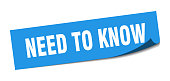 istock need to know sticker. need to know square isolated sign. need to know label 1265068905