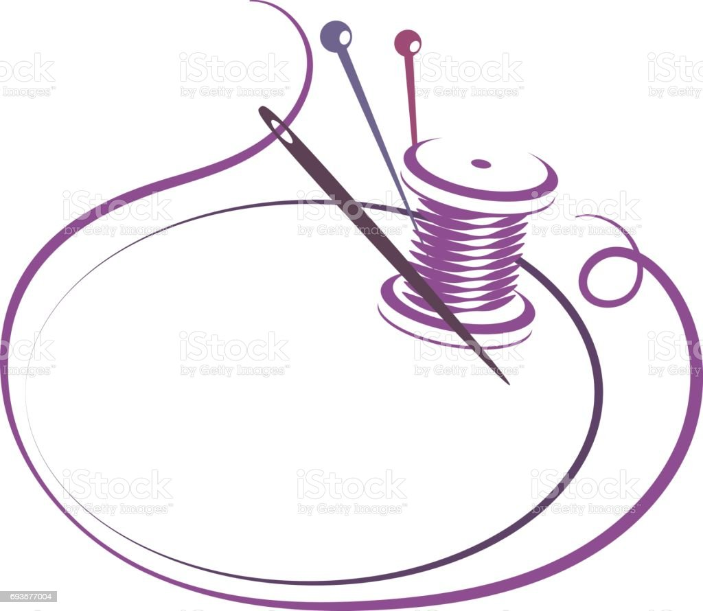 aguja e hilo para coser la silueta arte vectorial de stock y m s im genes de aguja 693577004. Black Bedroom Furniture Sets. Home Design Ideas