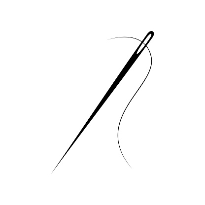 Needle for sewing vector illustration
