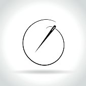needle icon on white background