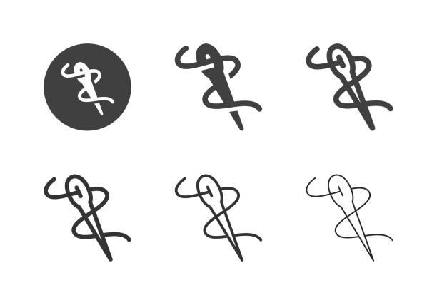Needle Icons - Multi Series vector art illustration