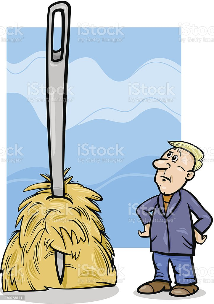 royalty free needle in haystack clip art vector images rh istockphoto com haystack clipart black and white