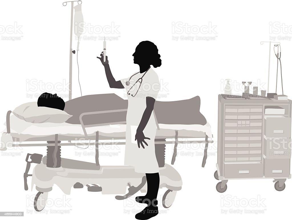 Needle vector art illustration