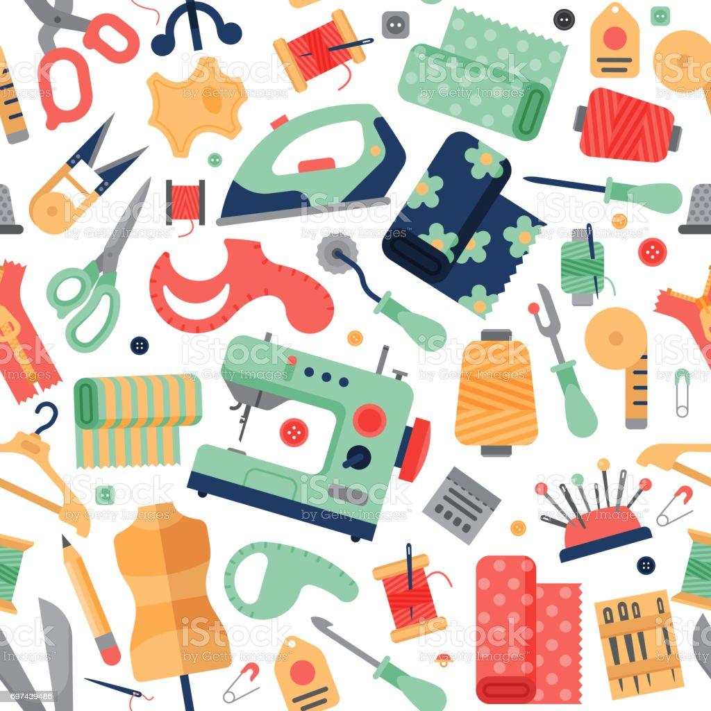 17742fabf933 Equipamiento de accesorios de hobby de costura confección ilustración de  vector de ffancy-trabajo ilustración