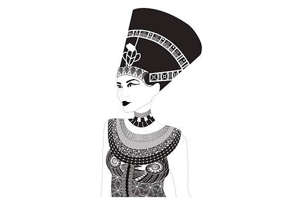 Nefertiti - Egyptian Queen vector art illustration