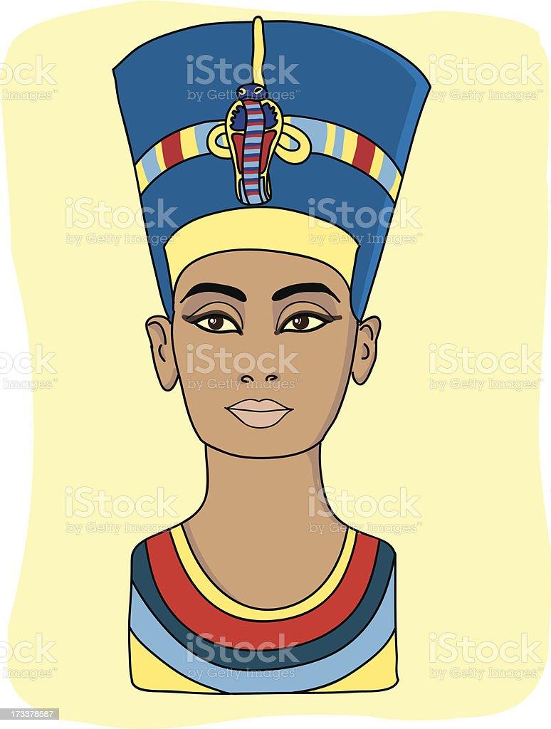 Nefertiti vector art illustration