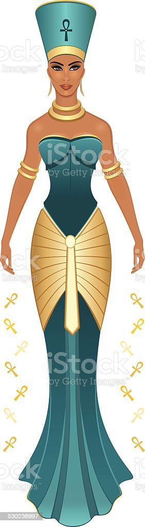 Nefertiti vector art illustration