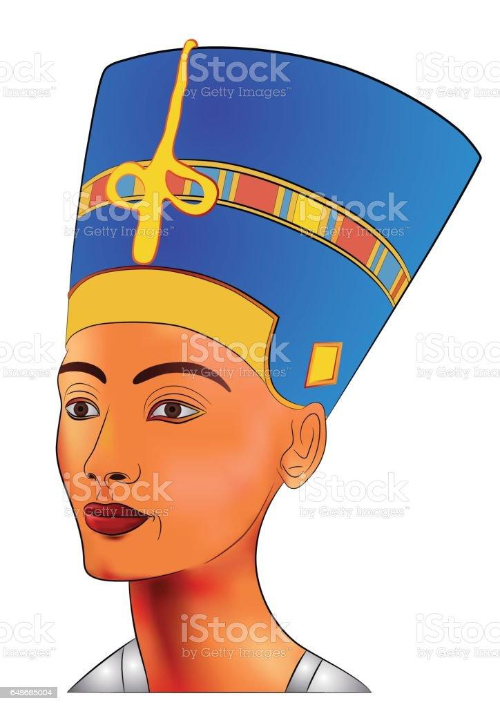Nefertiti - vector illustration vector art illustration