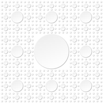 Negative five levels Sierpinski Carpet fractal using circles