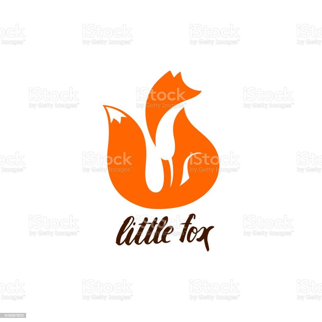 Espacio negativo símbolo de Fox de estar. - ilustración de arte vectorial