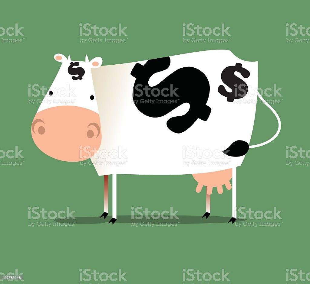 negocio con ganado vacuno vector art illustration