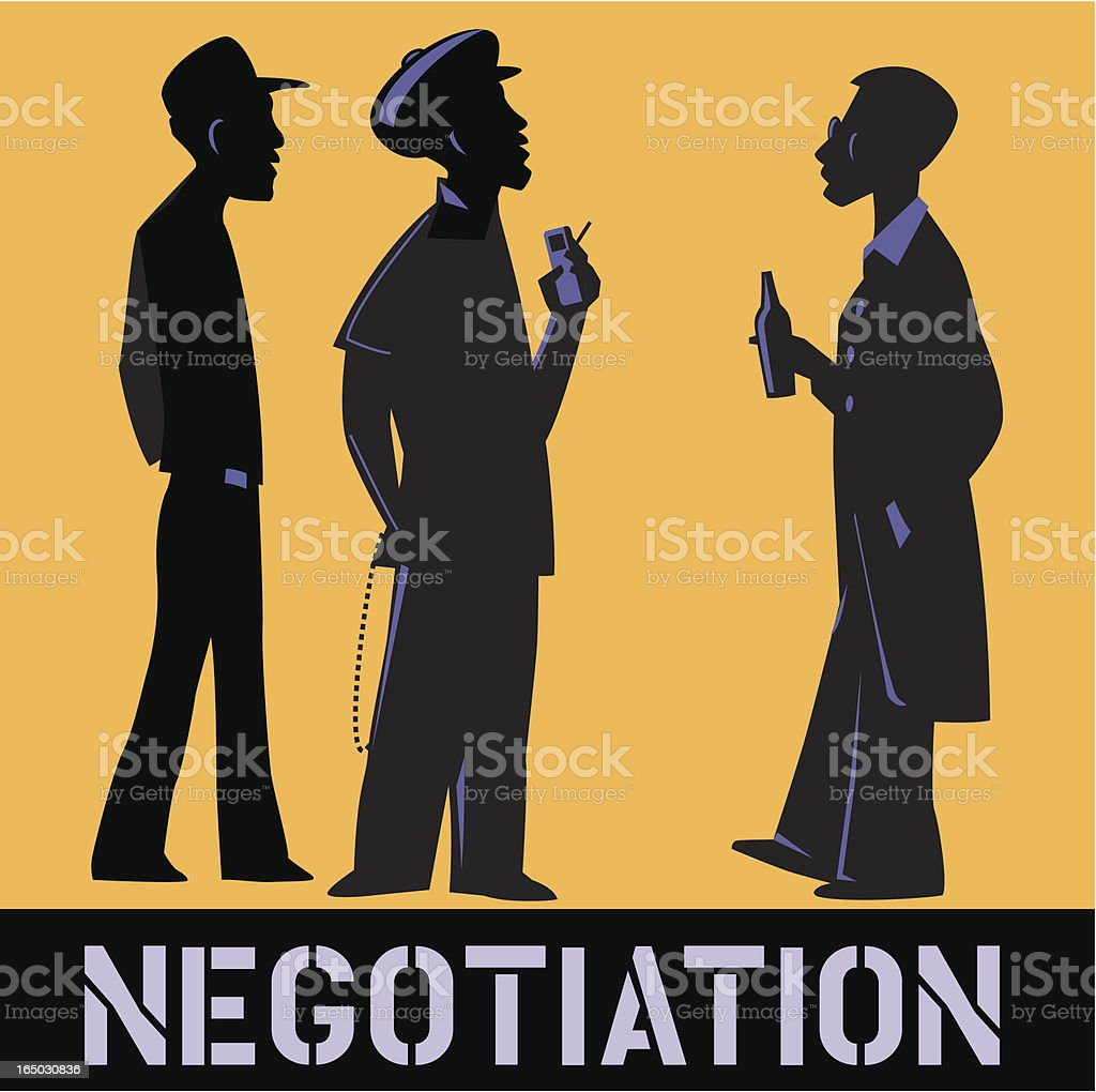 Negotiation royalty-free stock vector art