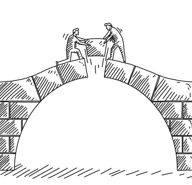 Negotiation vector art illustration