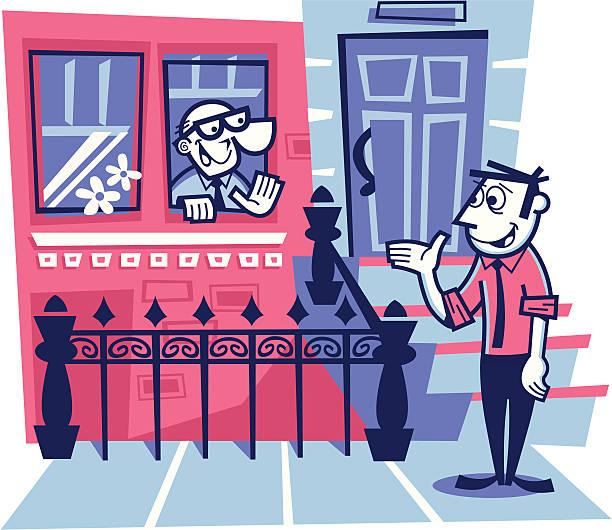 stockillustraties, clipart, cartoons en iconen met neighborhood friends - buren