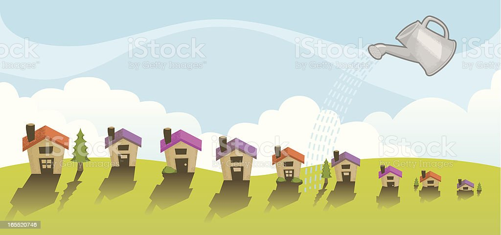 Neighborhood Growth royalty-free neighborhood growth stock vector art & more images of cloud - sky