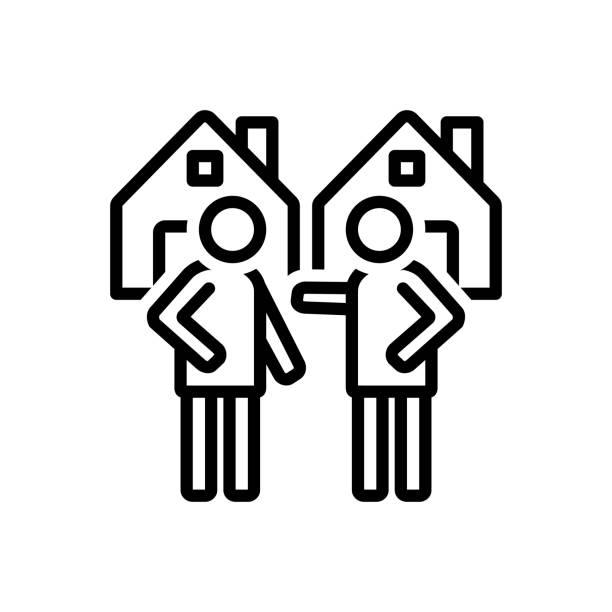 stockillustraties, clipart, cartoons en iconen met buurtnabijheid - buren