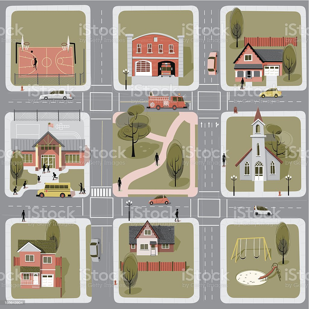 Neighborhood royalty-free stock vector art