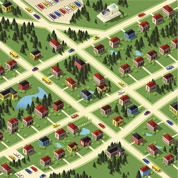 周辺エリア - 森林 俯瞰点のイラスト素材/クリップアート素材/マンガ素材/アイコン素材